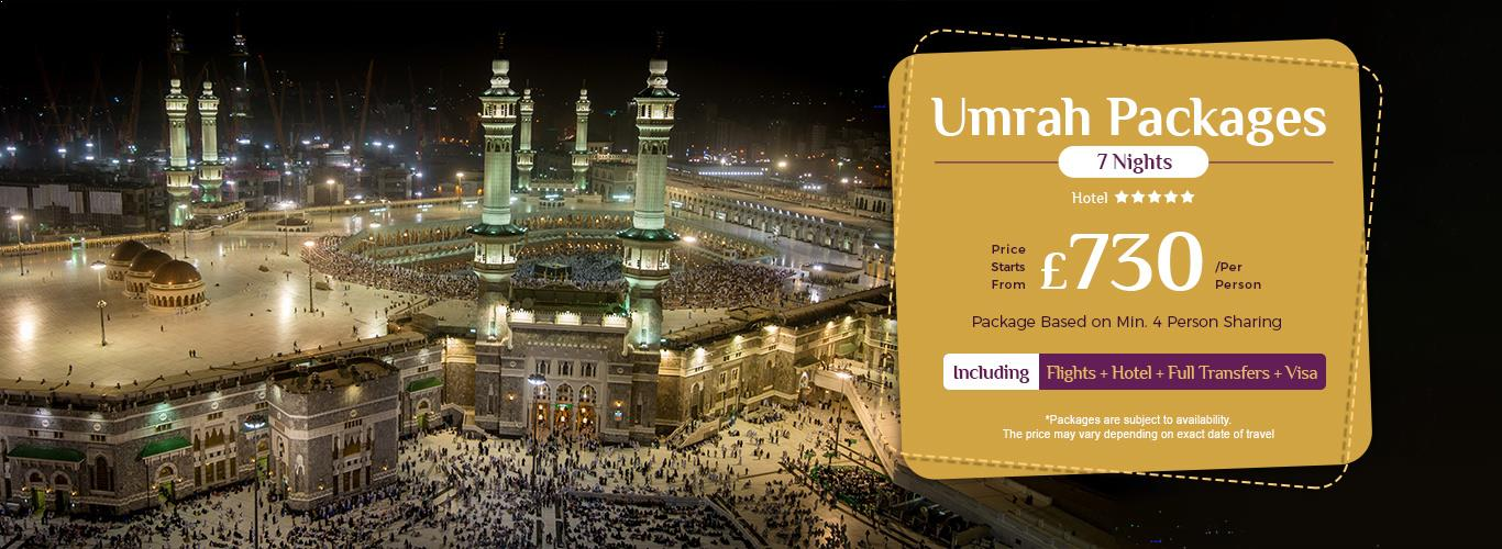 Umrah Banner: Cheap Umrah Packages From UK